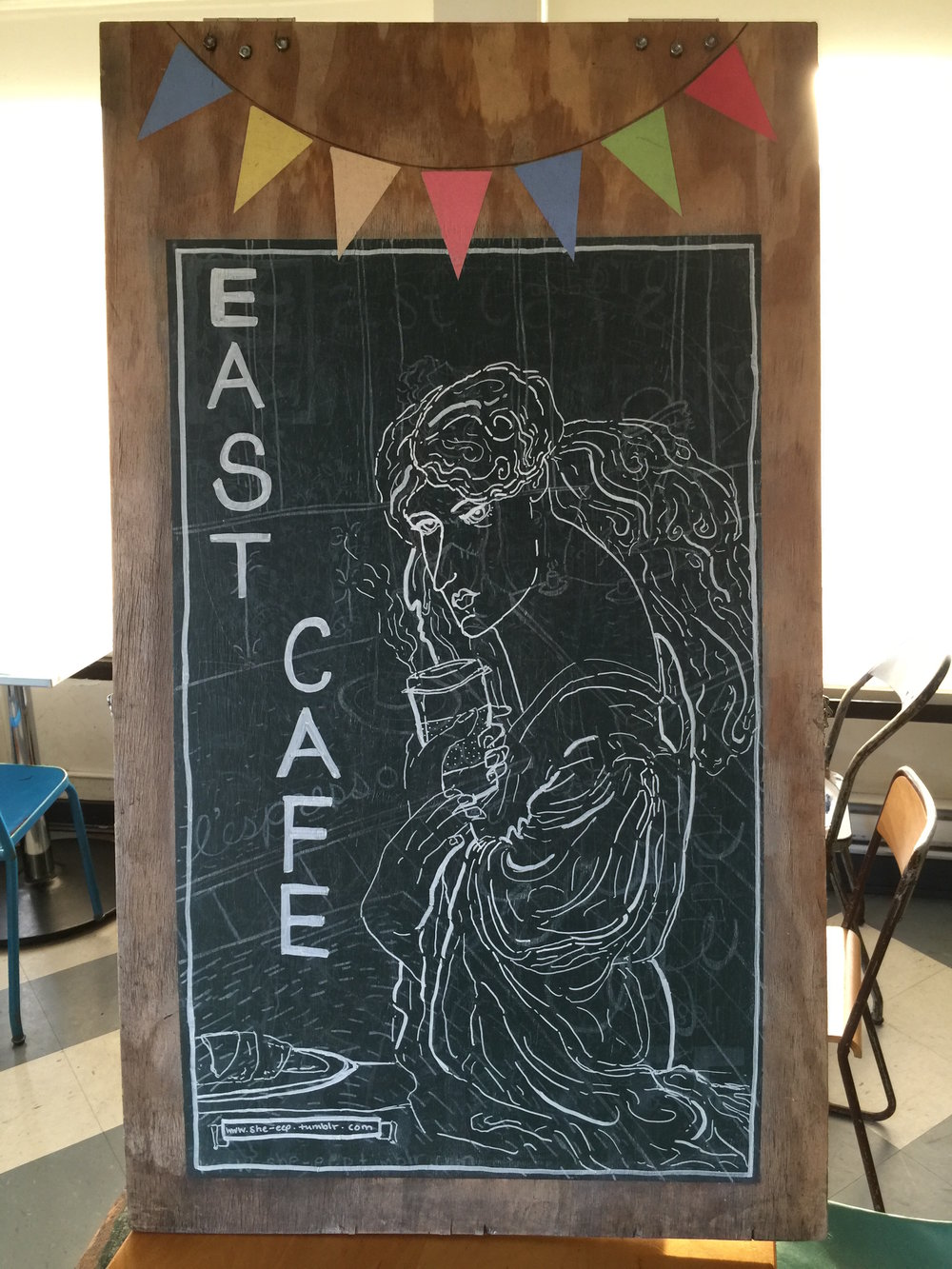 - Welcome to east cafe!  We're more than a cafe - we're a community. We're very honoured by the many customers and friends that call east cafe their place to go - a place to catch up with friends, study or just grab a great cup of coffee.