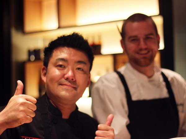 Chef Zama and Chef Chris Paulikas