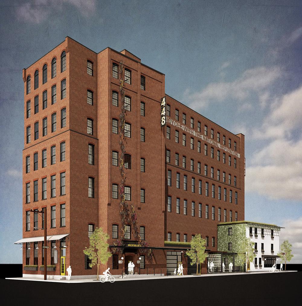 448 N. 10TH STREET - 7 Stories . 50,000 sf . Restaurant . Retail . Creative Workspaces