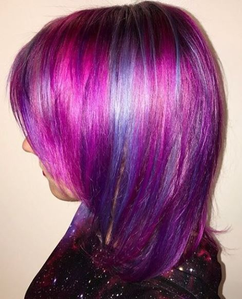Cut-Splice Hair Salon Blue, Purple, Pink Color