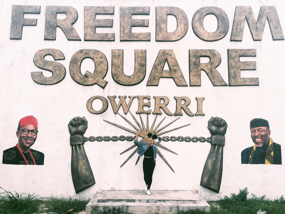 Entrance to Freedom Square, Owerri, Imo State