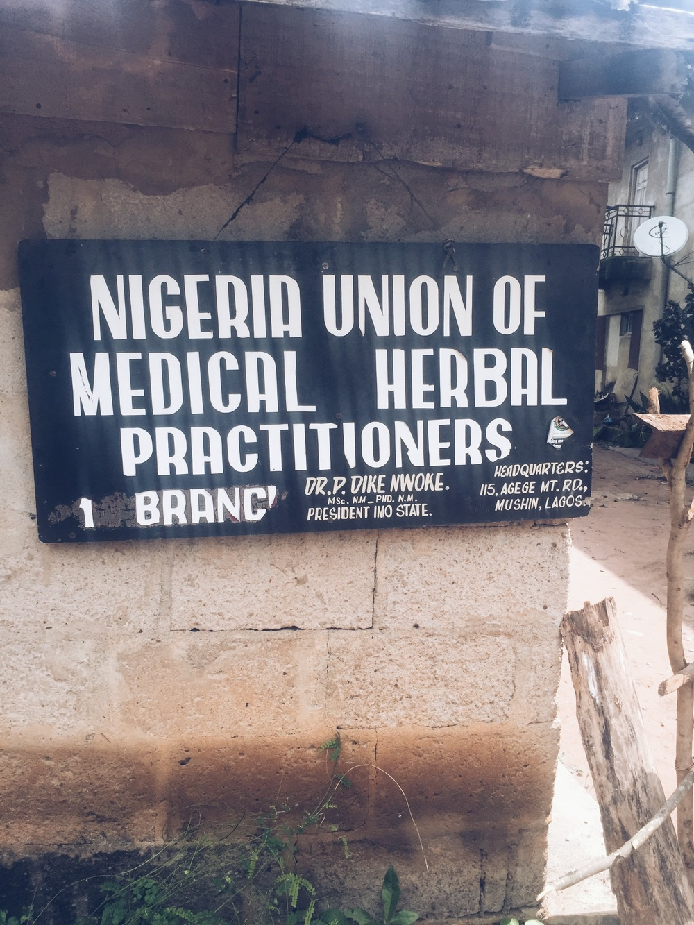 Sign at the Village in Owerri