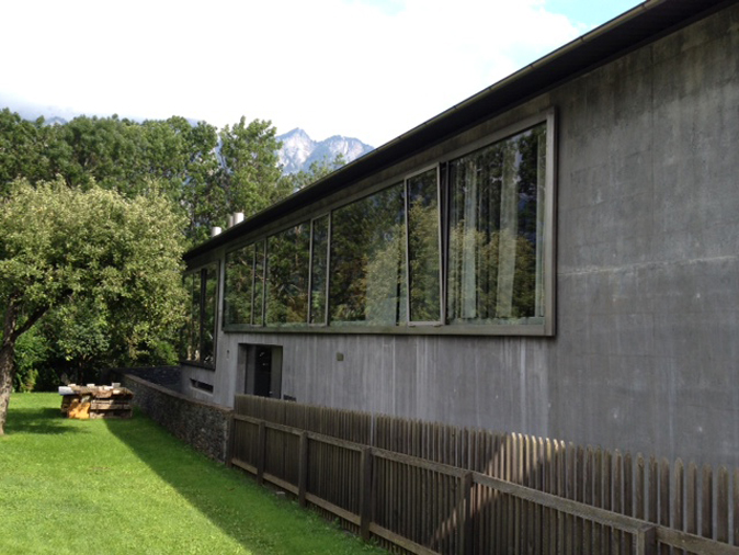 The Atelier, in fact, is part of a compound that includes the Zumthor family home, an old workroom (from 1986) and the newer one (from 2005). It's charming to think that, despite his massive success (he won the Pritzker in 2009), one of the world's finest architects has stayed so true (and close) to his roots. What could be perceived as cold, reductive timber or cement boxes are in fact volumes made to convey a sense of life, and the lived. At moments, tired yet happy looking young staff would pop out of one box and into the other as they moved between studio work and meetings, or other functions around the practice. I saw no sign of the man himself however, his presence was felt.
