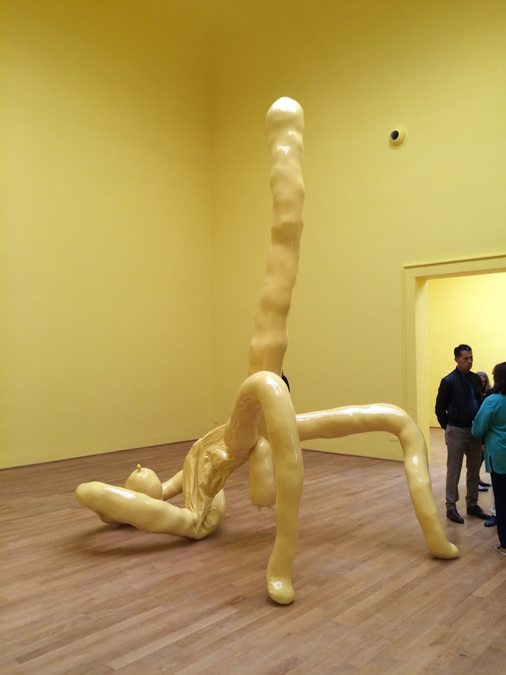 Sarah Lucas at the British pavilion. Very titty