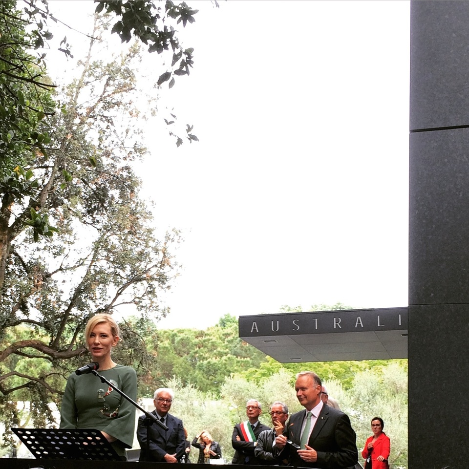 Cate Blancett opens the new Australian Pavilion in the Giardini at Venice