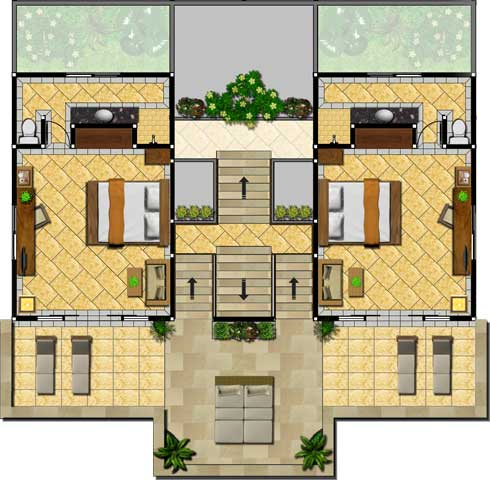Lumbung Seaside Rooms First Floor Floor Plan