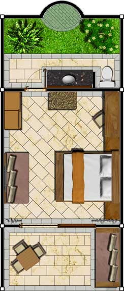 Suar Deluxe Rooms Floor Plan