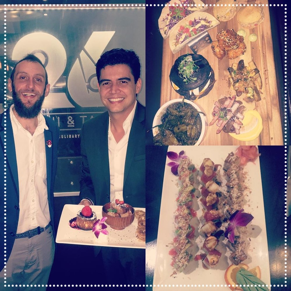 Orlando Segura - TV Personality - This Univision host heard about the beautiful Chef Platters our Chef Marlon Thomas prepares and had to come try it out for himself... And a Sushi Platter.... and a Dessert Platter.  IGL @OrlandoSeguraOficial