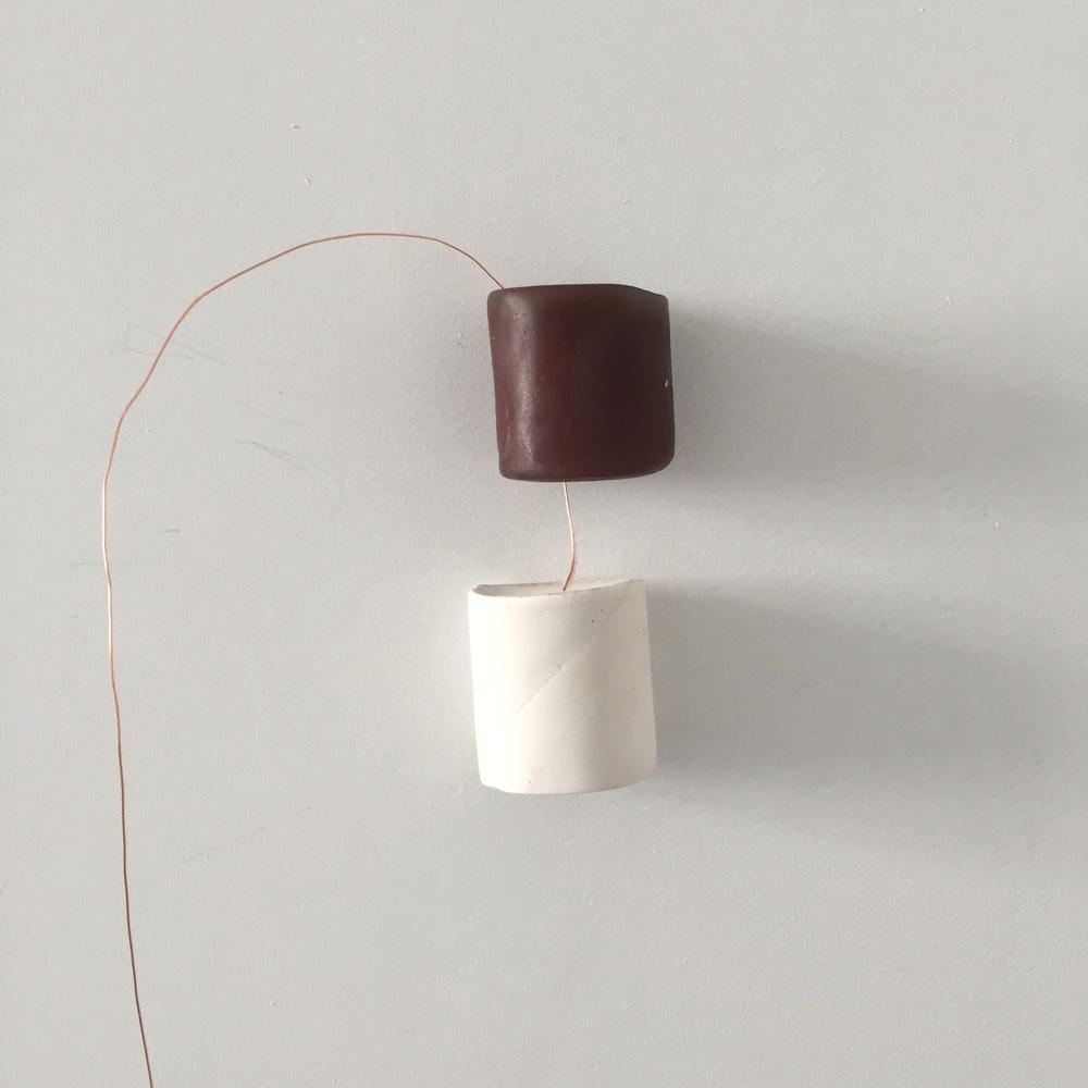Soap, plaster, copper wire