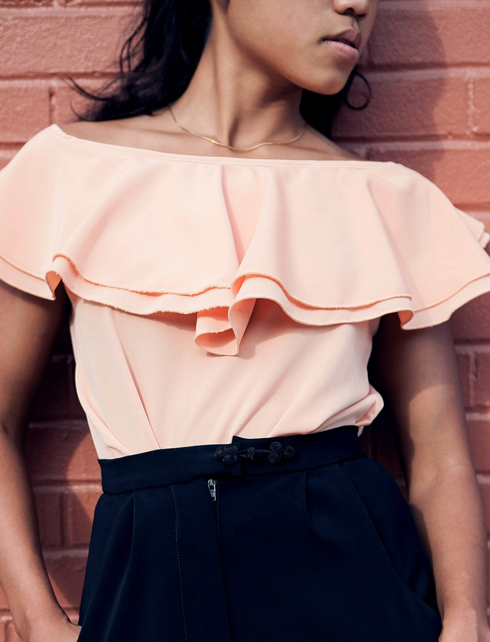 Peachy Blouse  - Casual with a flare...