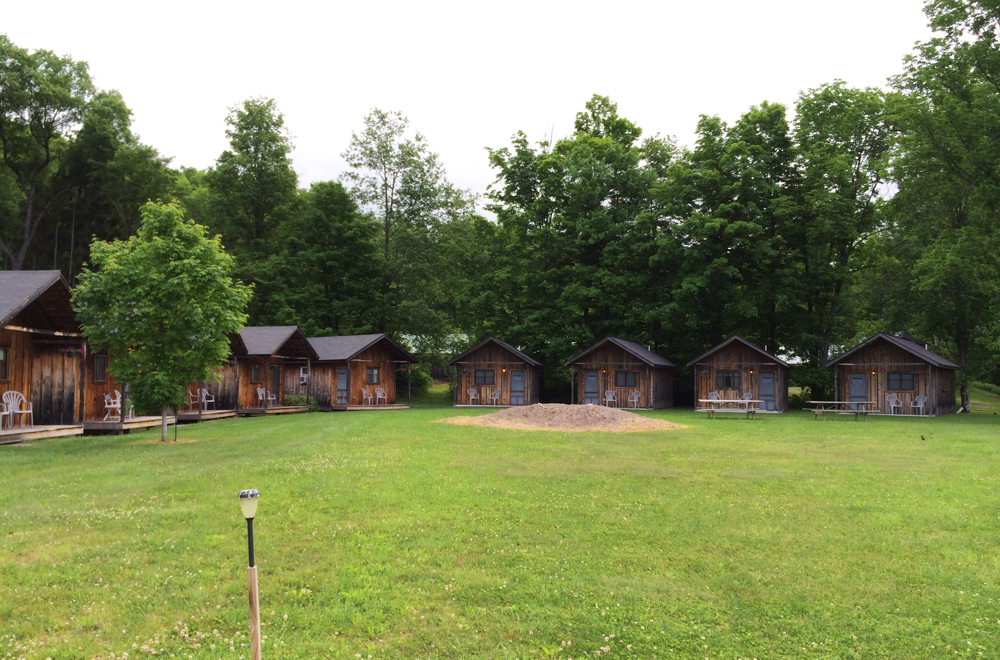 Cabins are perfect for peaceful, independent work time. Just watch out for the bears.