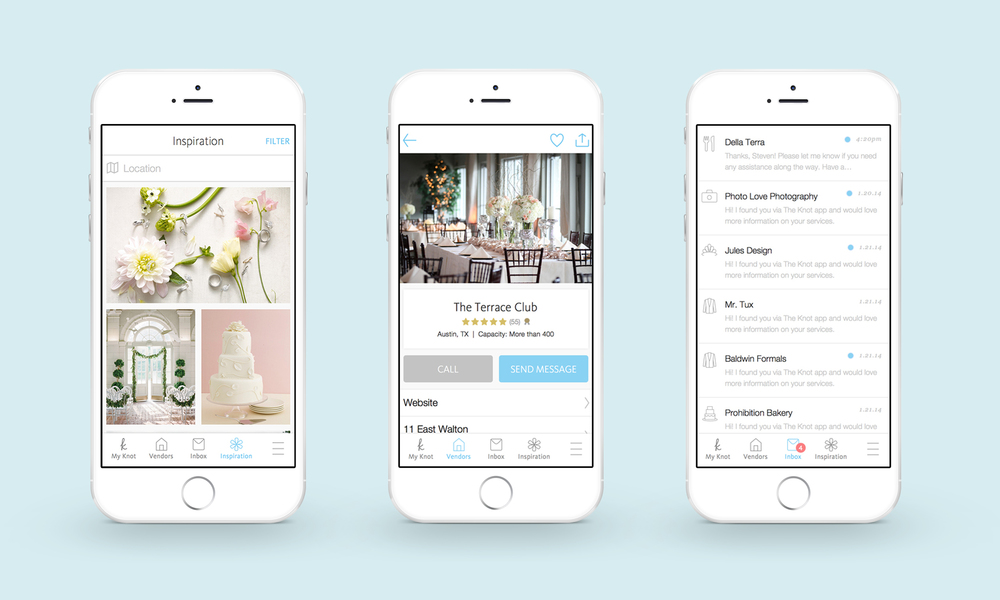 The Knot Wedding Planner iOS app