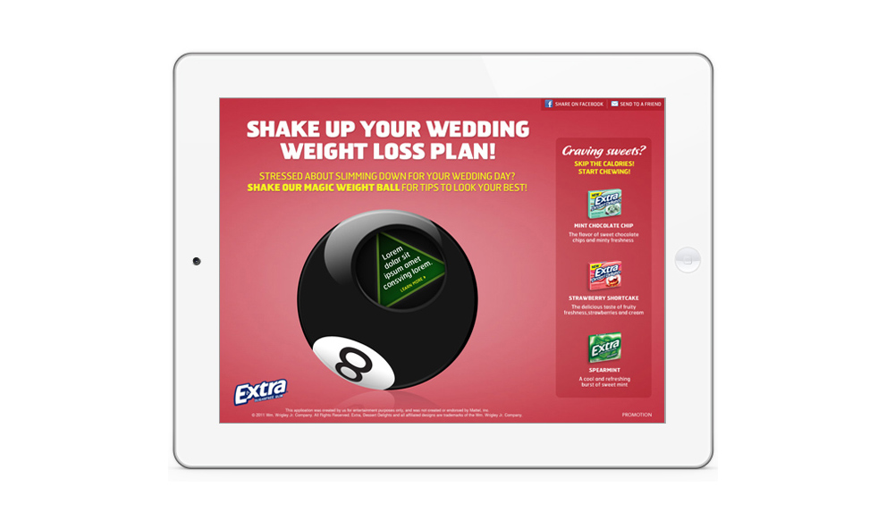 Wrigley Extra Gum Eight-Ball iPad ad