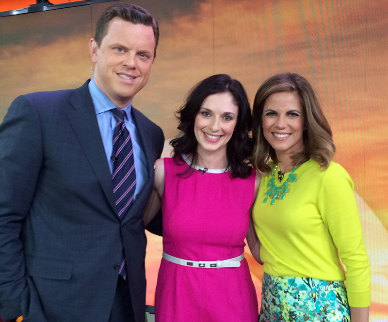 On set at TODAY Show with Willie Geist and Natalie Morales.