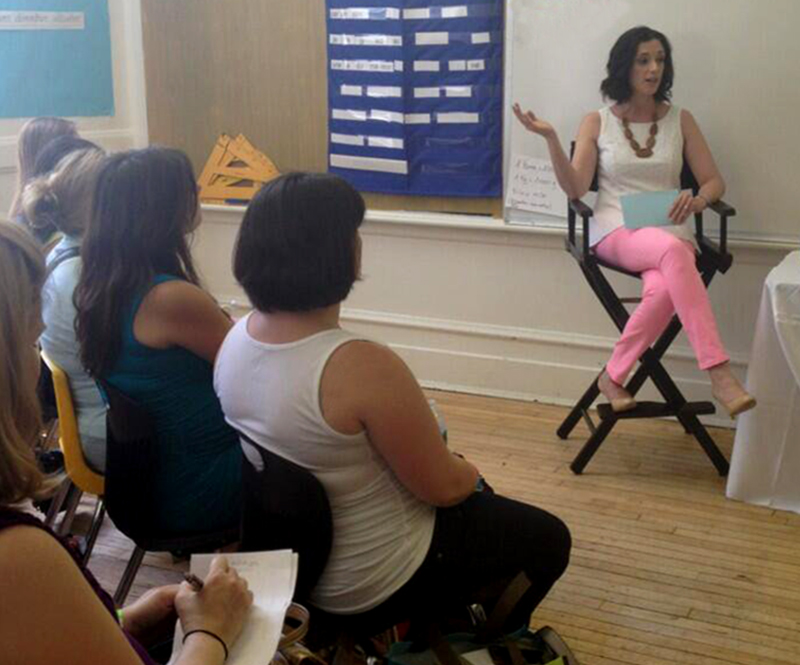 Talking mommyhood at the Brooklyn Baby Expo.