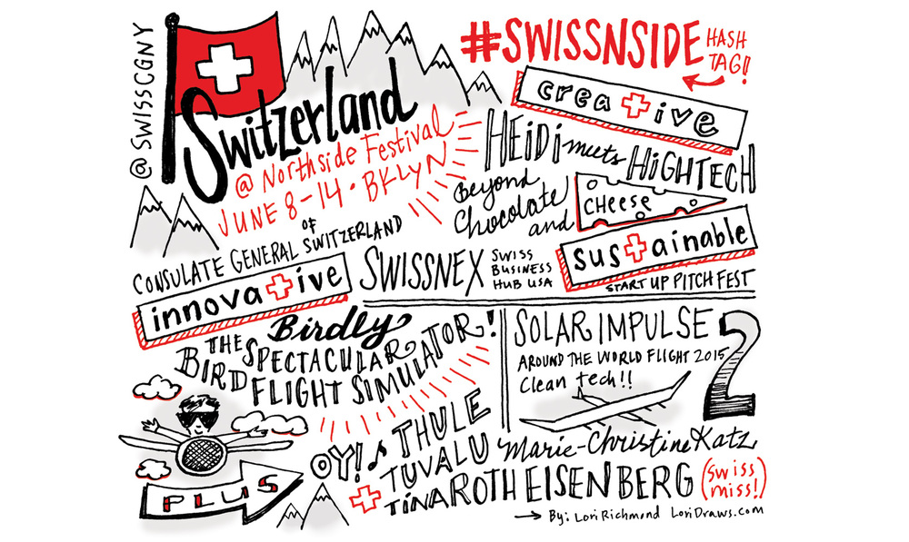 Program ad for the Consulate General of Switzerland.