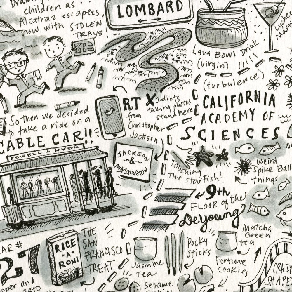 Detail from the San Francisco spread.
