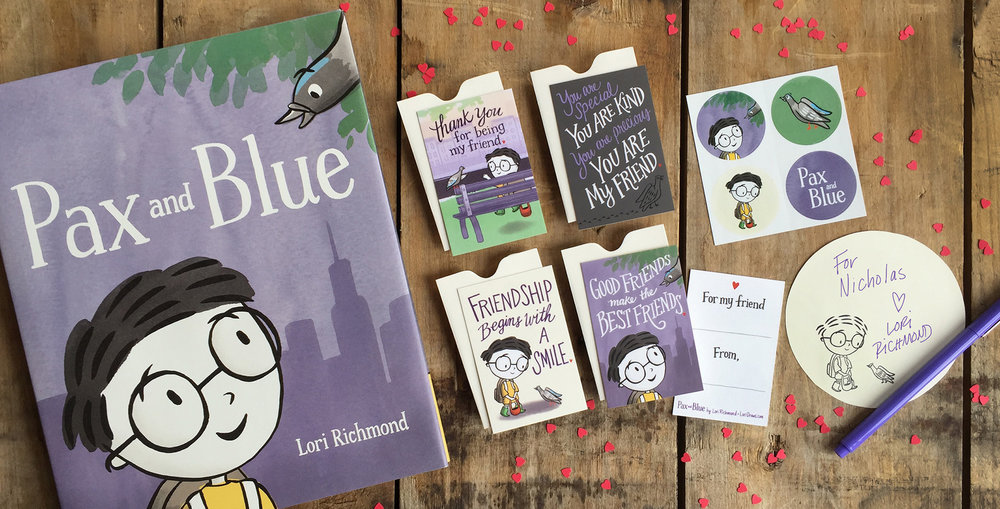 Friendship note marketing campaign  |  Pax and Blue, Simon & Schuster/Paula Wiseman Books