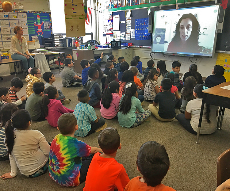 Skype visit with a school outside Chicago.