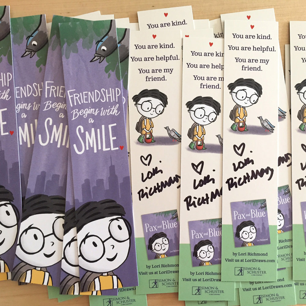 Your class gets 25 autographed bookmarks. Sweet!