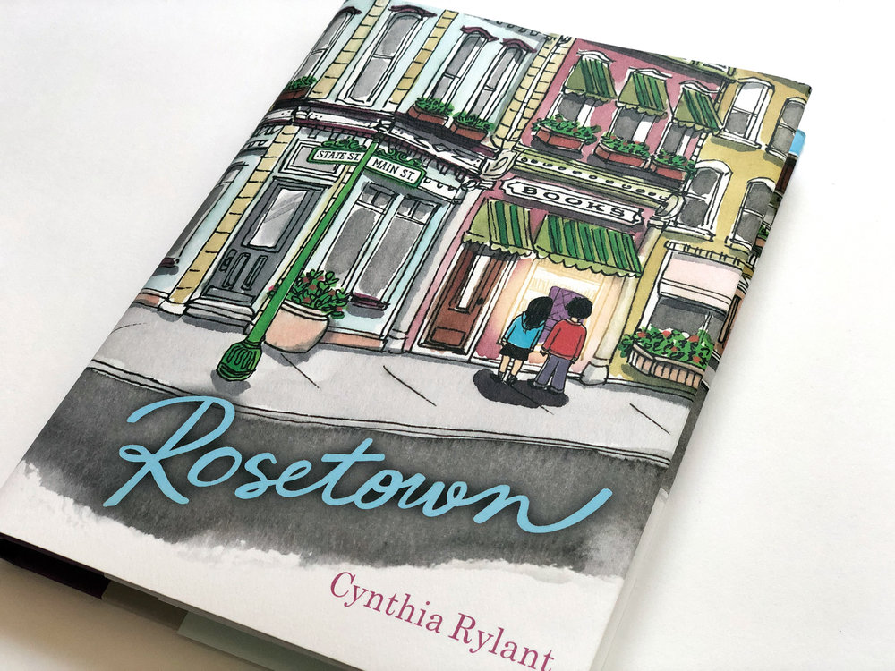 Jacket illustration for ROSETOWN, published by Simon & Schuster