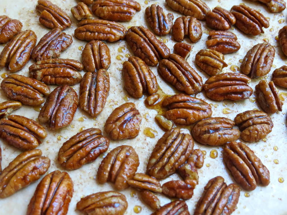 Pecans before roasting.