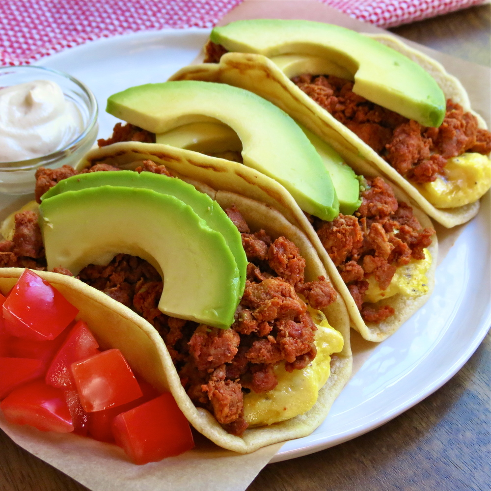 These tacos go great with my cashew sour cream recipe.