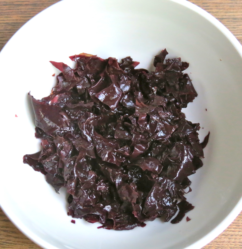 Dulse rinsed.