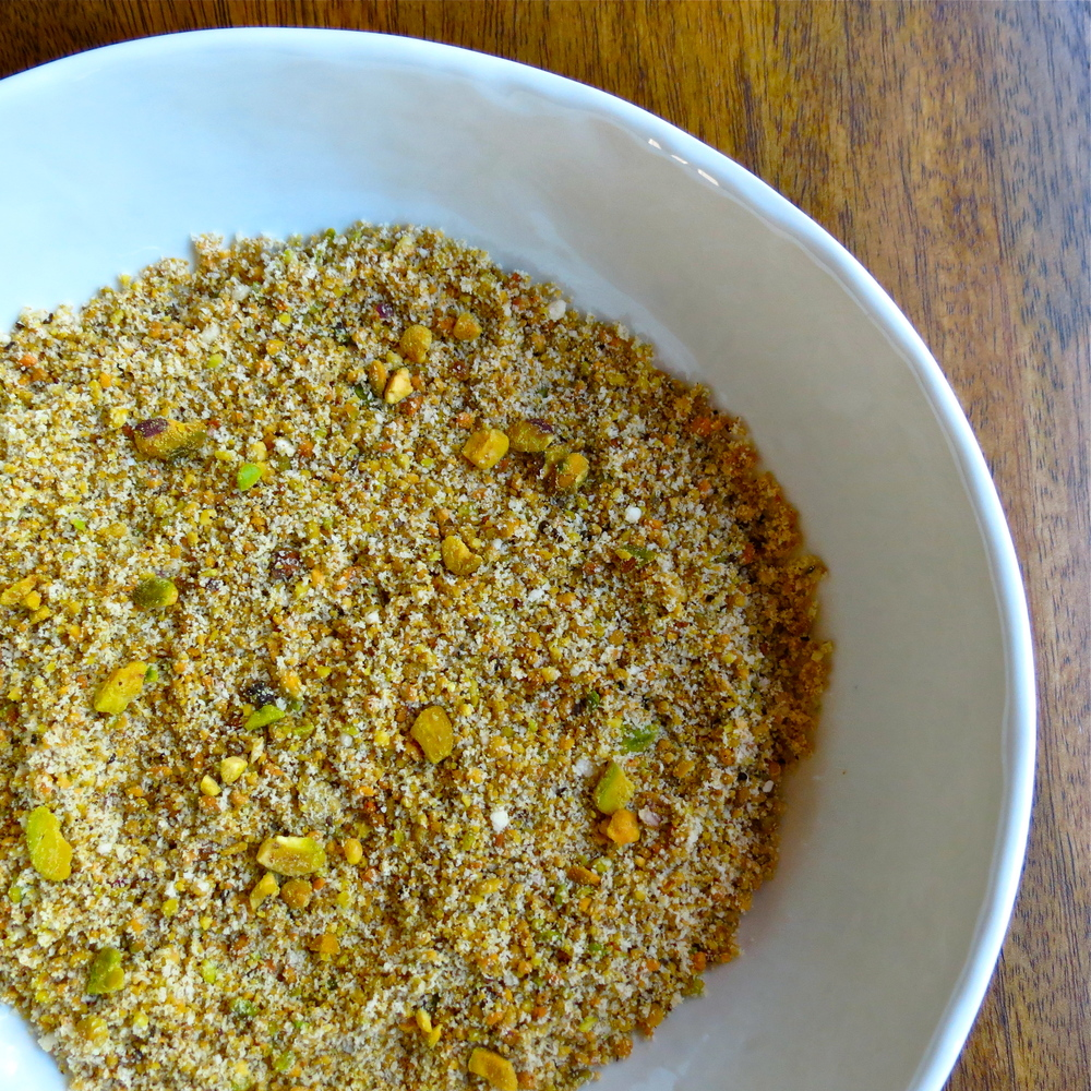Pistachio and almond flour mixture.