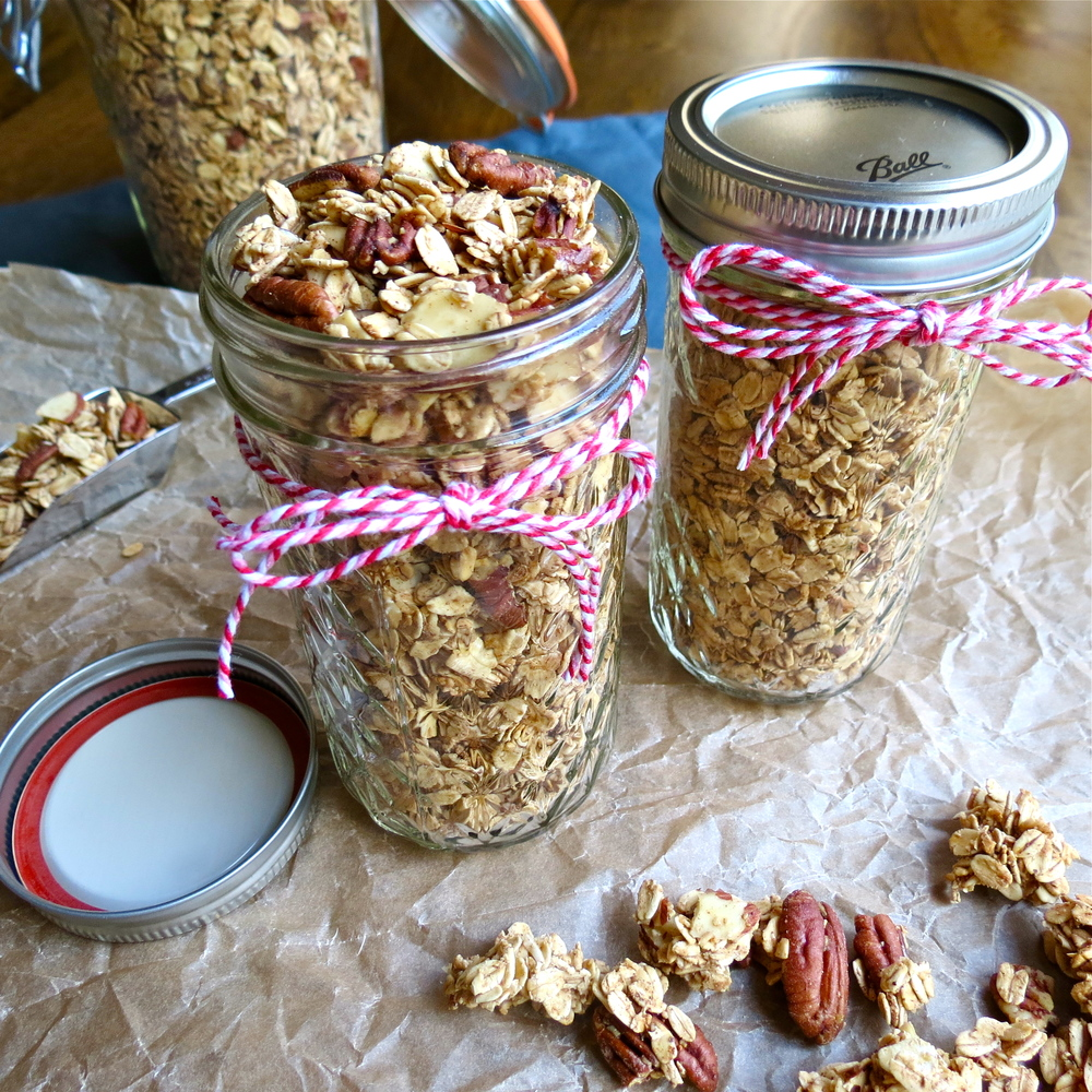 Homemade granola makes great gifts.