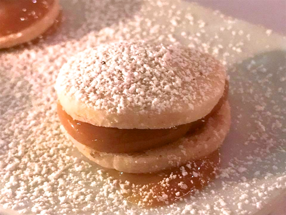 Here is a picture of a traditional alfajores from one of our favorite restaurants!