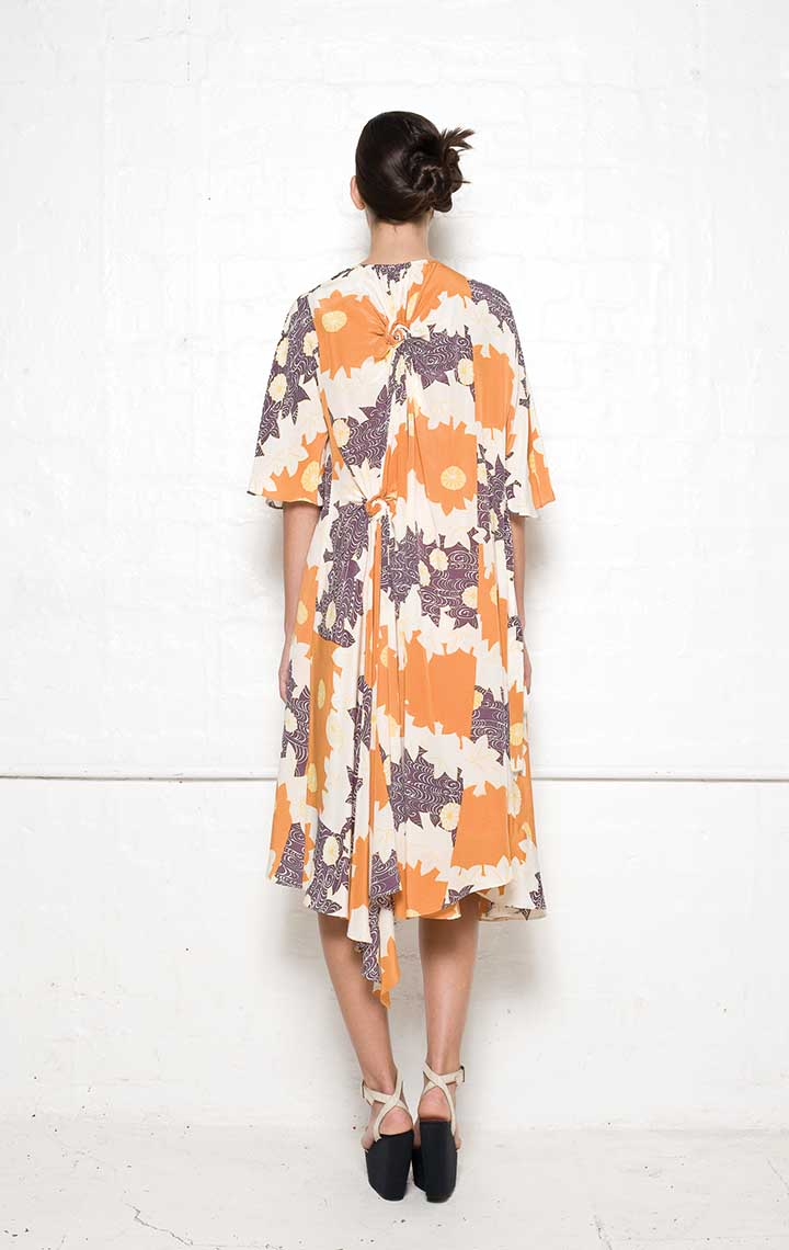 120/S01339P Spiral Shibori Wrap Dress