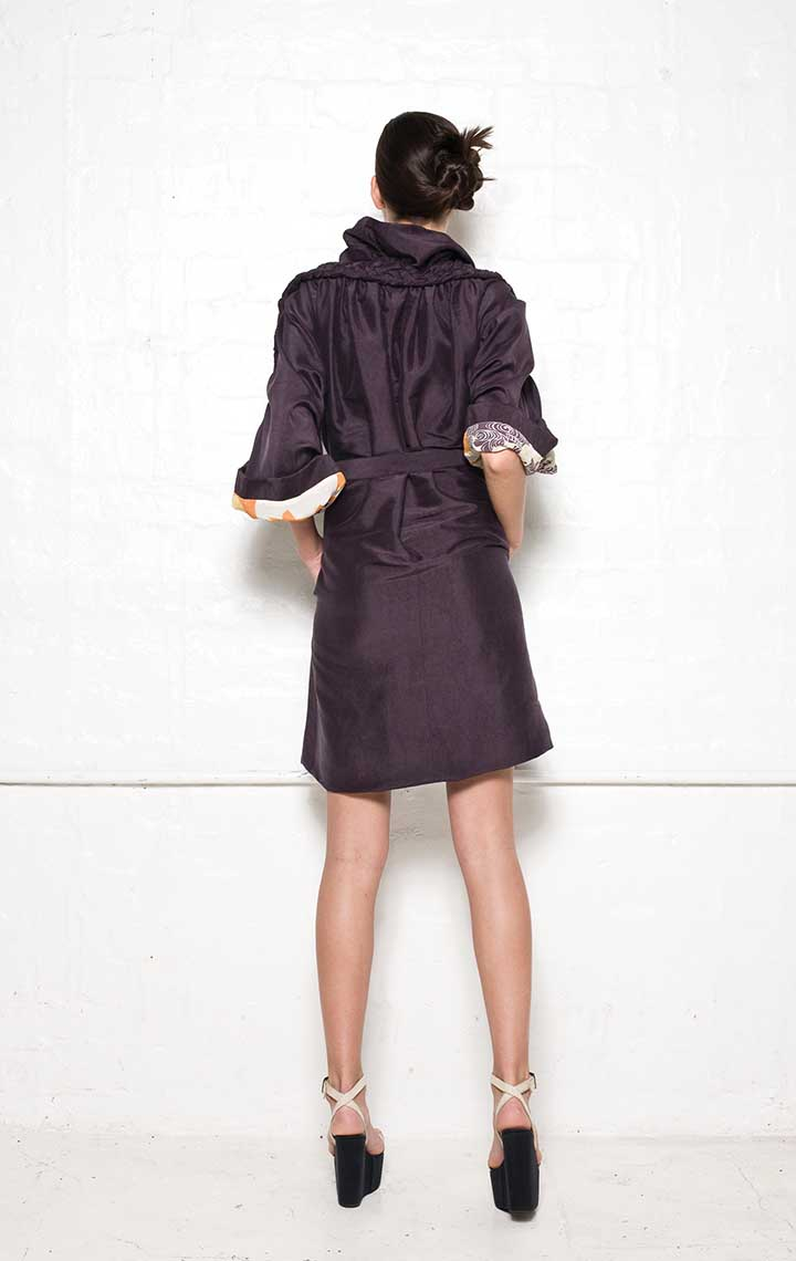 130/S09071 Coat Dress with Plaits