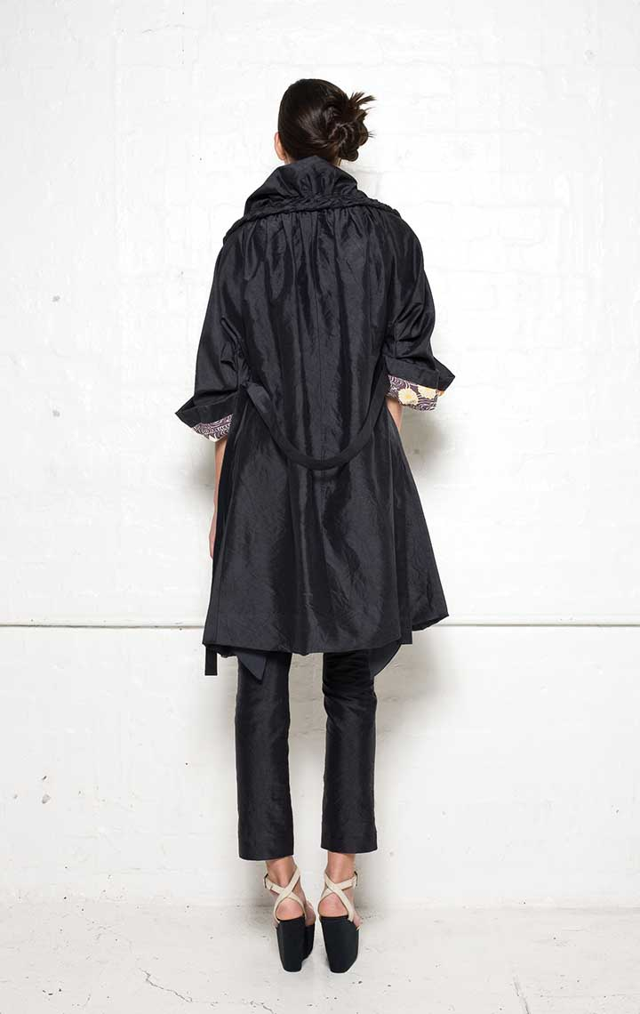 130/S09071 Coat Dress with Plaits    130/S06112A Narrow Pants