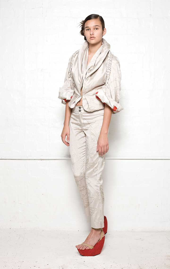 135/S08180 Jacket with Plaits    135/S06112A Narrow Pants
