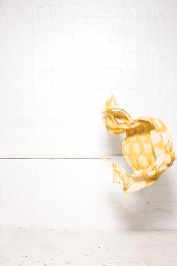900/S07395A Daffodil Shibori Scarf