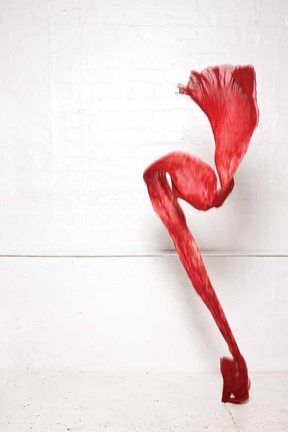 900/S07394 Red Shibori Scarf