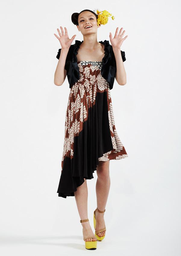 110/S98170 Petal Bolero    125/S95200B Spiral Shibori Wrap Skirt