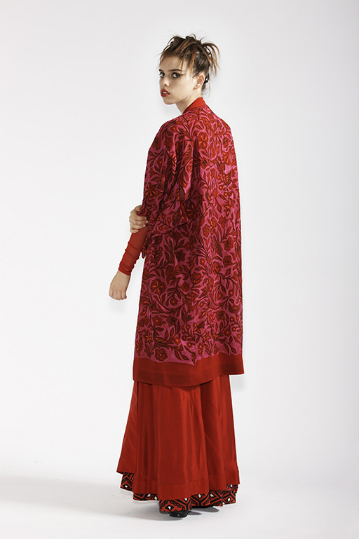 150/A99068A Kimono Gown    210/A93290 Long Sleeve Tunic    165/A95204 Origami Long Wrap Skirt