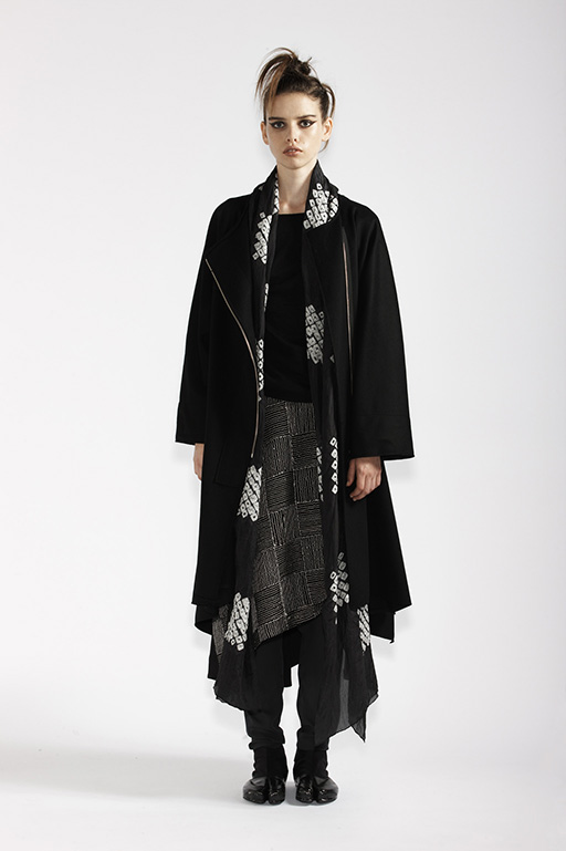 215/A93359 Long Sleeve Top    140/A95205 Origami Flare Wrap Skirt with Pin Stripe Embroidery    195/A99065 Flare Coat    900/A97373 Origami Wrap    210/A9686T Tulle Leggings