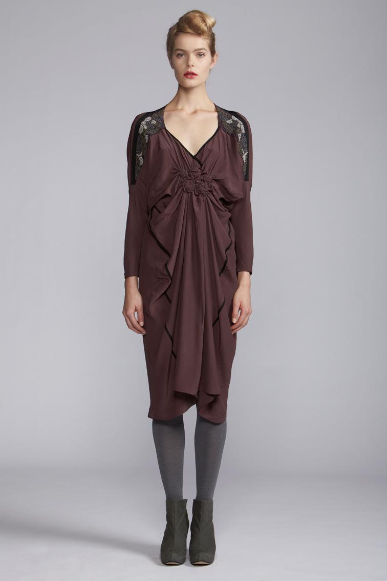 210/A120103 Spiral Shibori Cuff Dress
