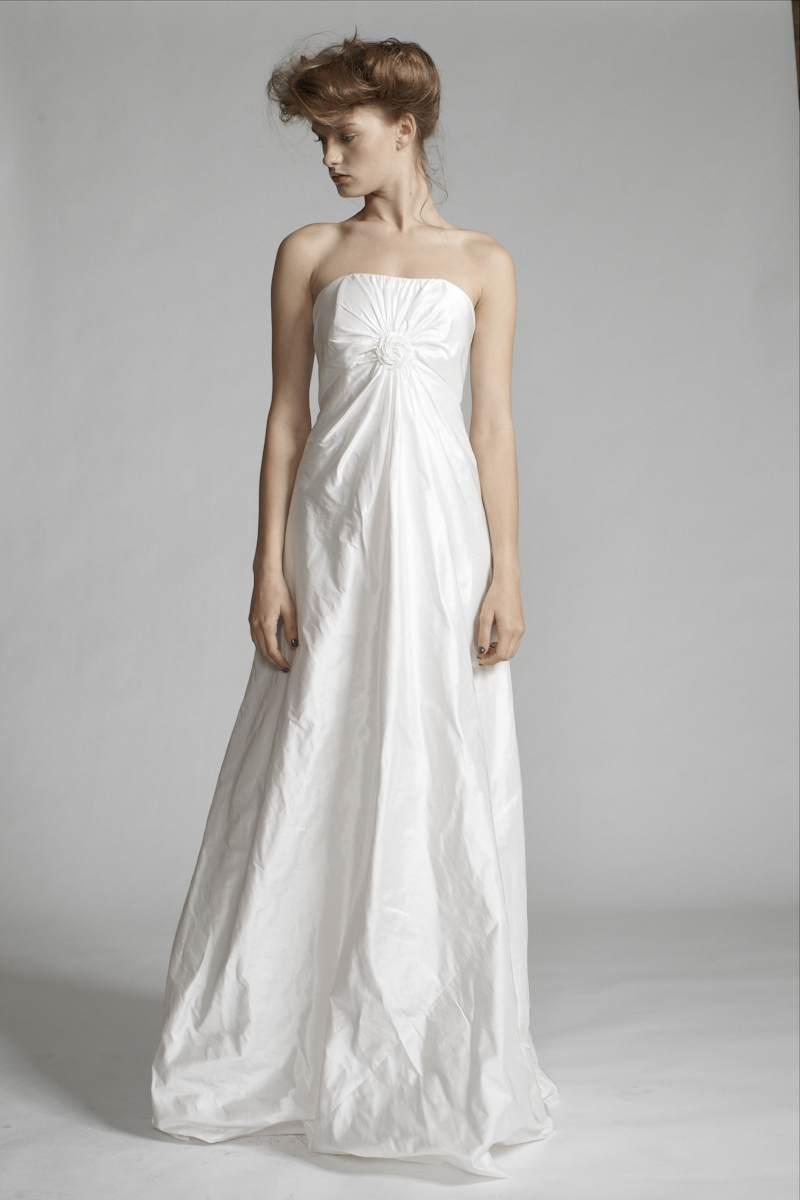100/S11443 Spiral Shibori Strapless Gown