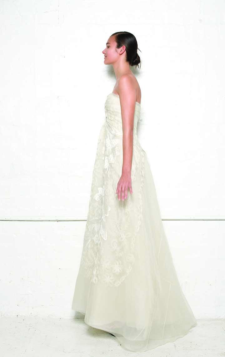100/S01303N Spiral Shibori Strapless Gown