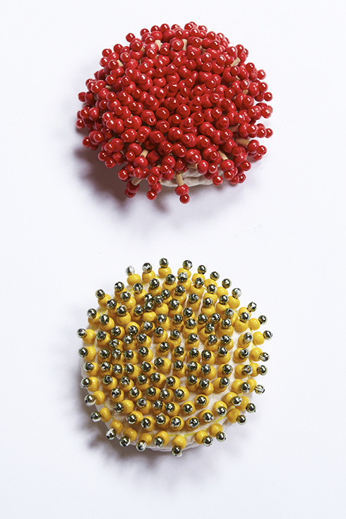 900/F137459 Berry Brooch- Red, Yellow