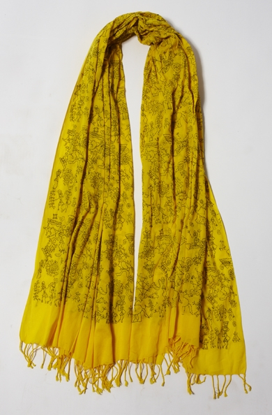 900/F07418 Large Embroidered Scarf
