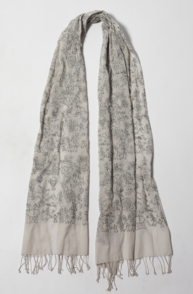 900/A07419 Small Embroidered Scarf