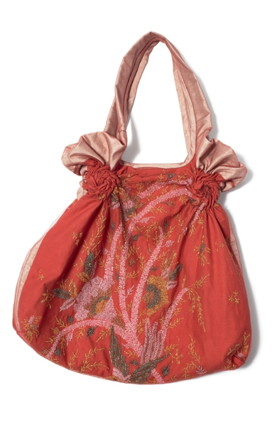 900/F07423 Beaded Spiral Shibori Bag