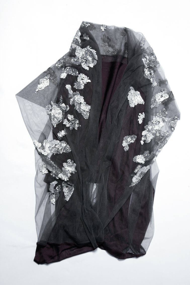 900/A07402 Sequin Tulle Scarf