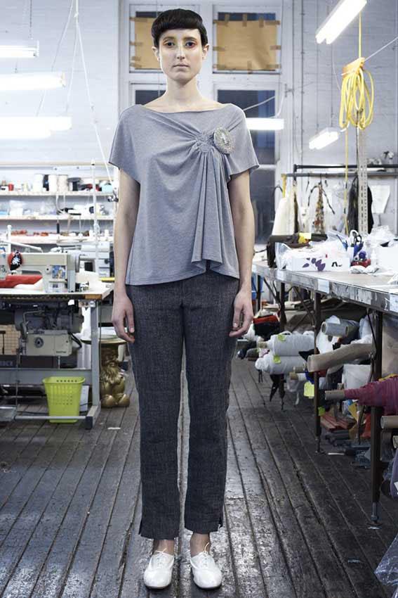 145/F03279 Spiral Shibori Top    150/F06112 Mens Style Trousers
