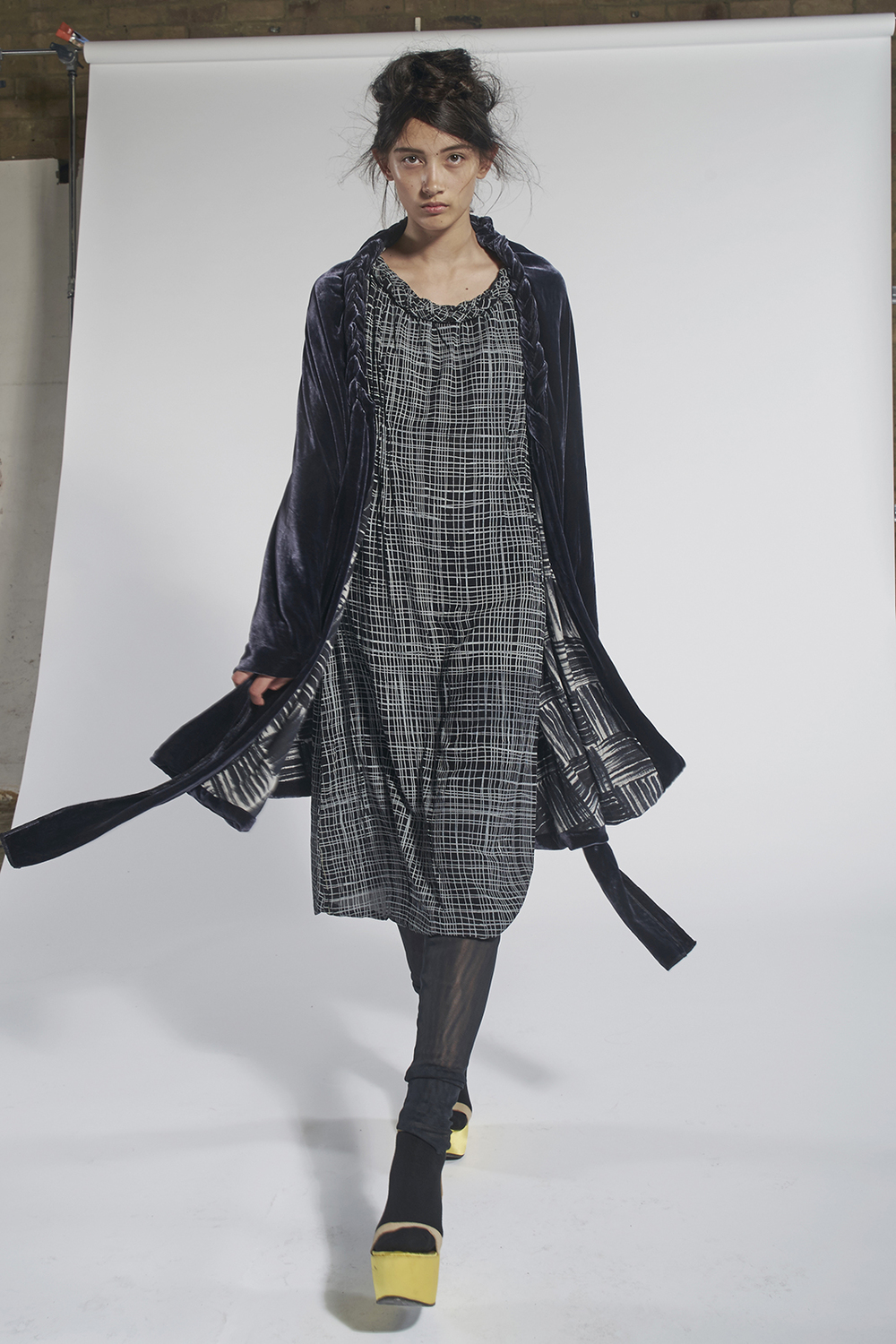 801/A159035 Velvet Plait Coat 236/A151555 Gathered Plait Dress